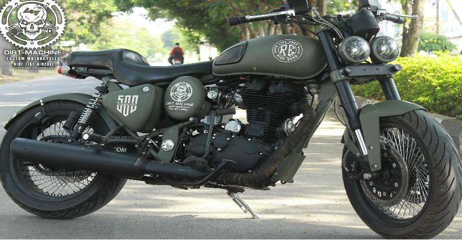 Combat – V 2.0 is a stunning custom Royal Enfield Desert Storm by Dirt-Machine Custom Motorcycles