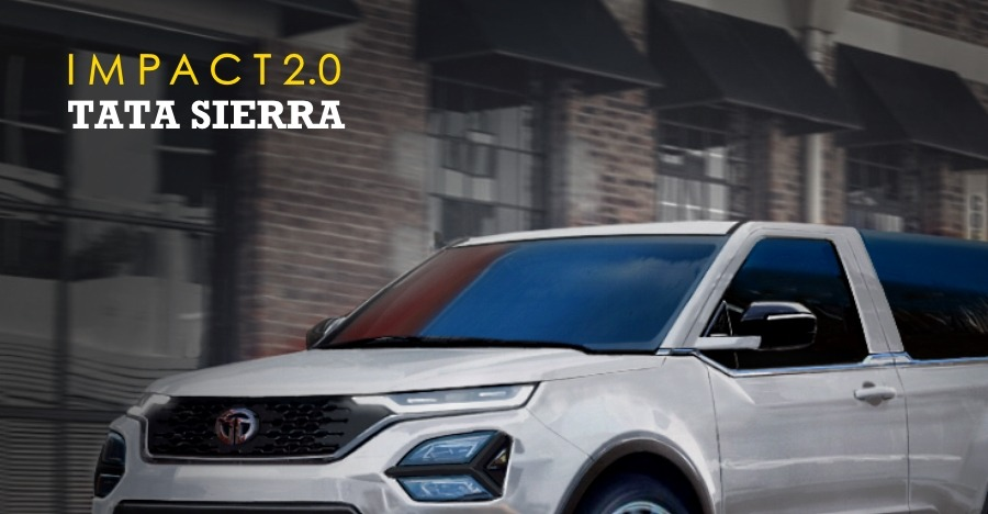 Future Tata Sierra with Impact 2.0 design: This is what it could look like!