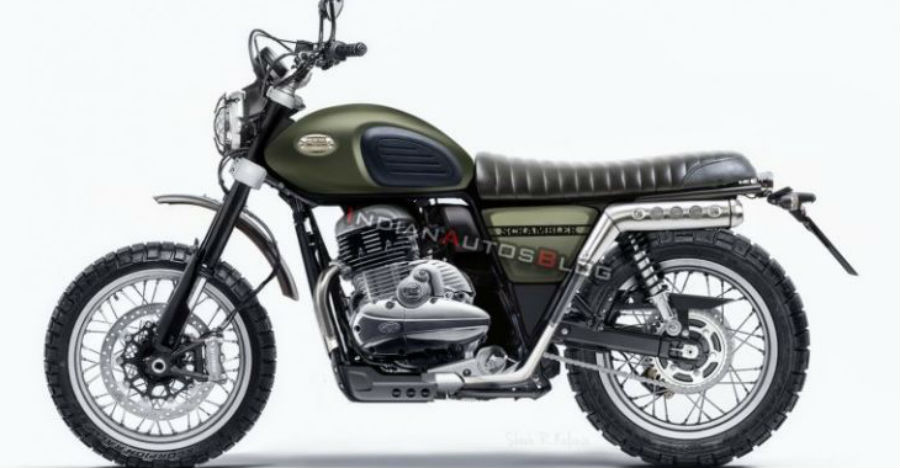 Jawa 300 Scrambler Side Profile Feature