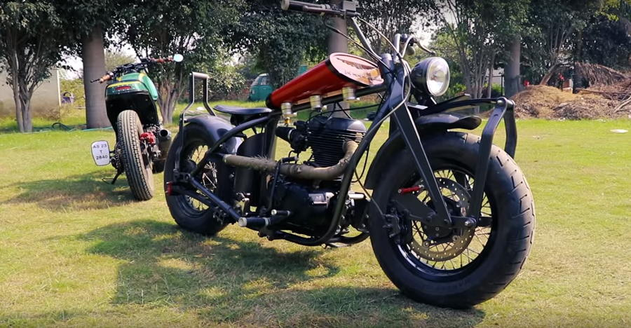 Royal Enfield Bullet 'Kamaani' is India's first bike with leaf spring suspension [Video]