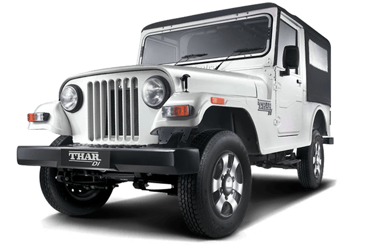 Mahindra Thar Di Diamond White