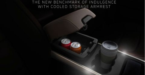 Tata Harrier Cooled Storage Under Armrest