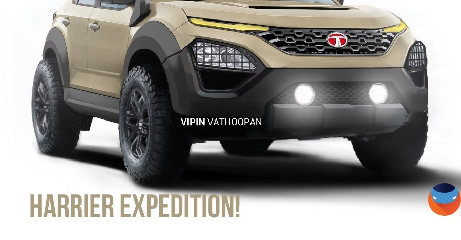 Tata Harrier 4×4 Expedition, in CarToq's exclusive render!