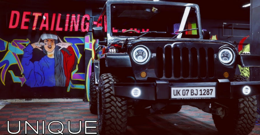 Mahindra Thar Modified Into A Jeep Wrangler By Detailing Devils