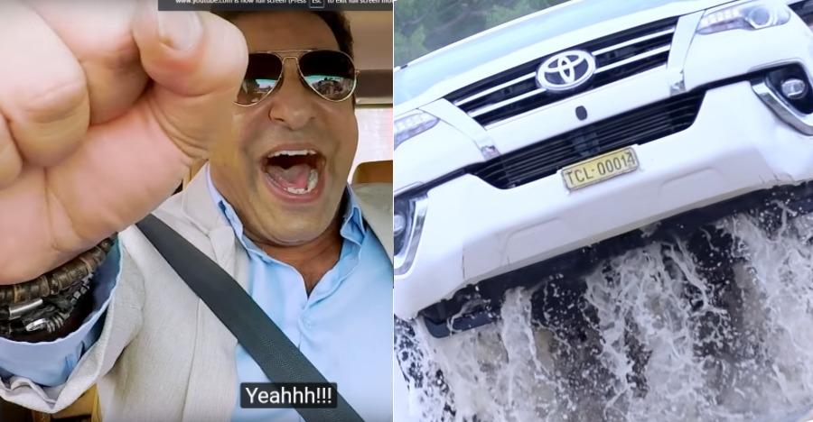 Watch legendary cricketer Wasim Akram hustle a Toyota Fortuner [Video]