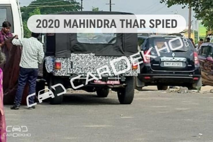 All New 2020 Mahindra Thar Spyshot 1