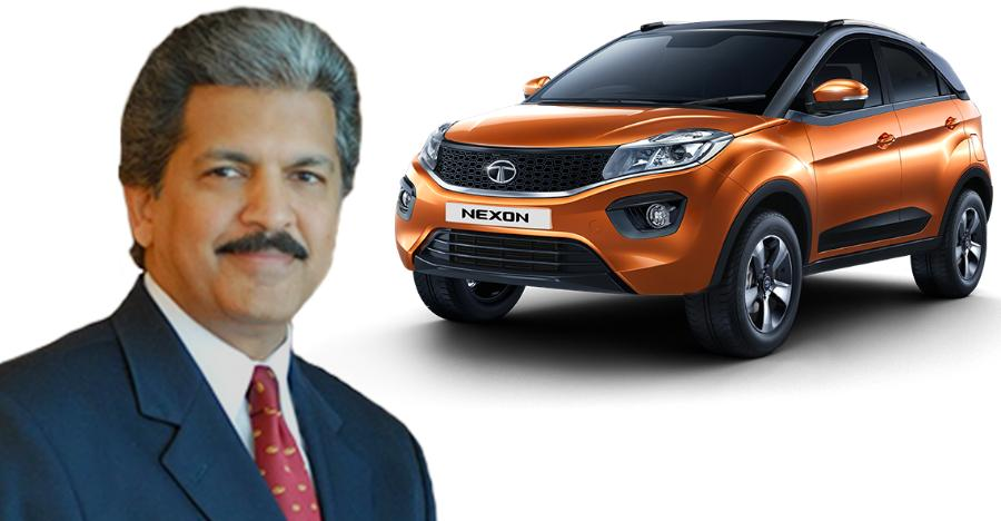 Anand Mahindra to Tata Nexon: Well done!
