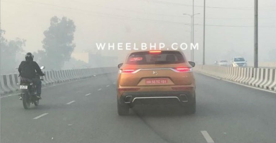 Peugeot-Citroen DS 7 Crossback premium SUV testing in India
