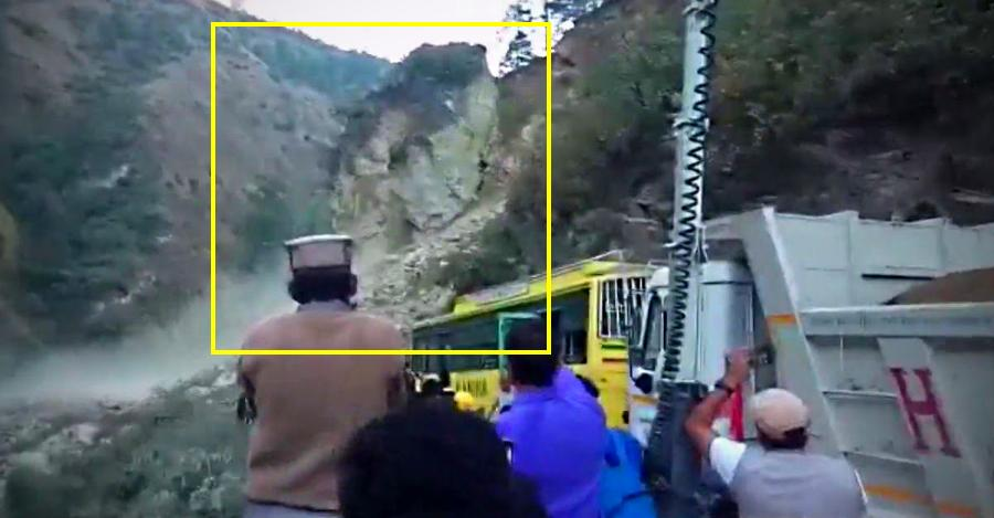Dangers of India's mountain roads: Falling boulders to flash floods [Video]