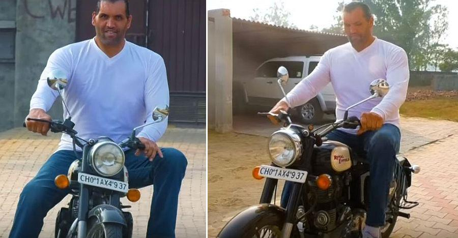 Great Khali Royal Enfield Featured