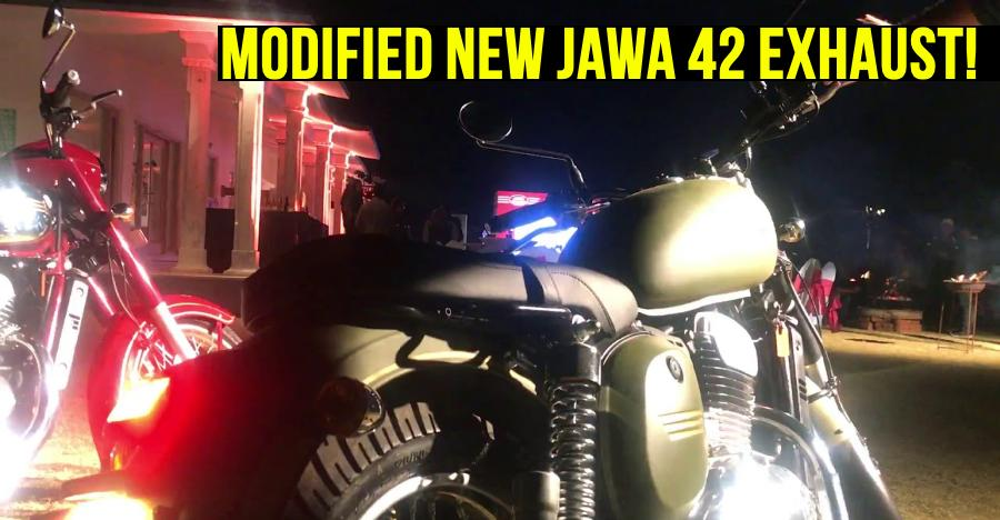 India's FIRST Jawa 42 with modified exhaust: What it sounds like [Video]