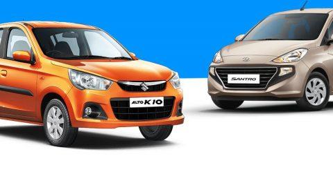 Maruti Alto Hyundai Santro Sales Featured