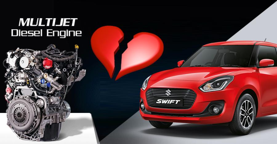 Maruti Suzuki to stop building Multijet diesel engines used by Swift, Dzire, Brezza & more