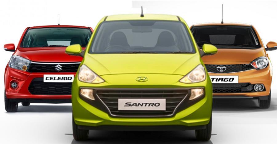 Hyundai Santro BEATS Maruti Celerio & Tata Tiago in November 2018 Sales