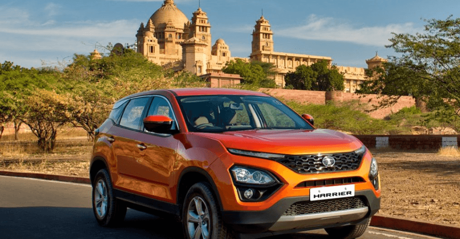 Tata Harrier SUV: What it looks like on the road!