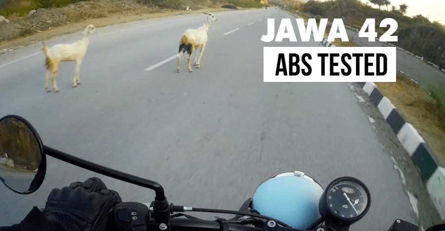Jawa 42 ABS brake test from 135 kmph, caught on camera! [VIDEO]