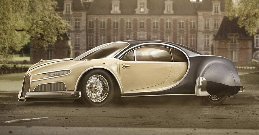 Tasteful Retro Versions of 7 Modern Sports Cars: From Audi R8 to Bugatti Chiron
