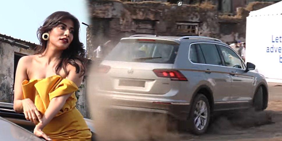 Bollywood actress Chitrangada Singh slides a Volkswagen Tiguan SUV (Video)