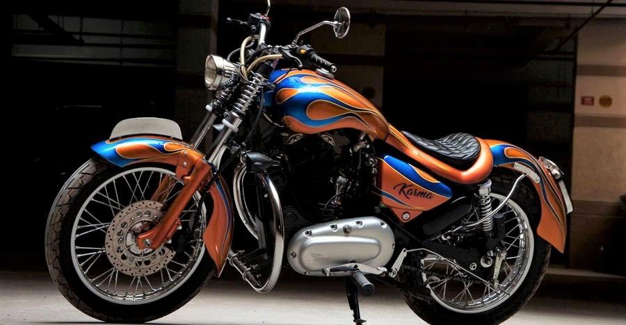 Royal Enfield Thunderbird modified into a BEAUTIFUL chopper styled bike