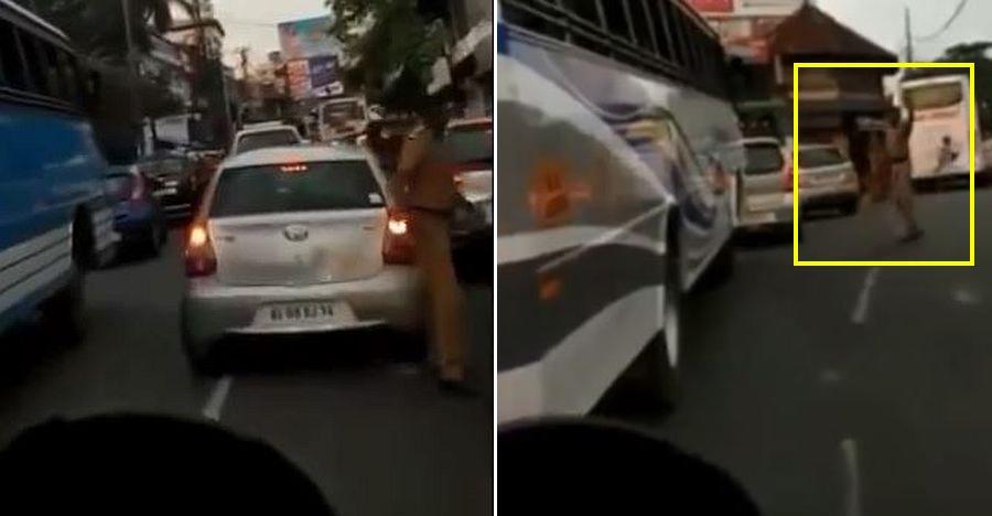 Legendary Kerala cop makes an ambulance escape a massive traffic jam [Video]