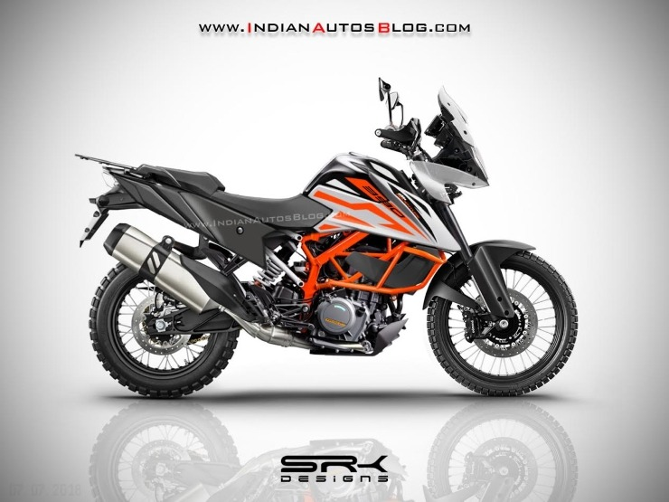spy pics ktm 390 adventure spotted testing in india
