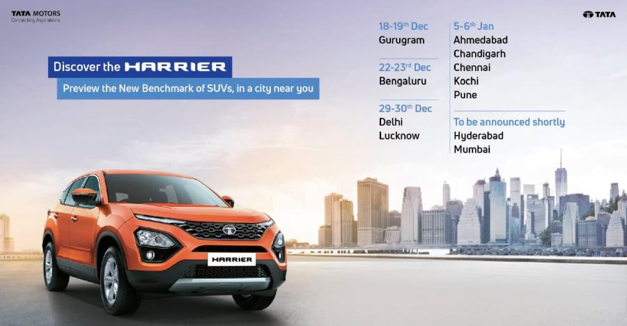 The Tata Harrier SUV is coming to your city: City-wise roadshow list inside! [Video]