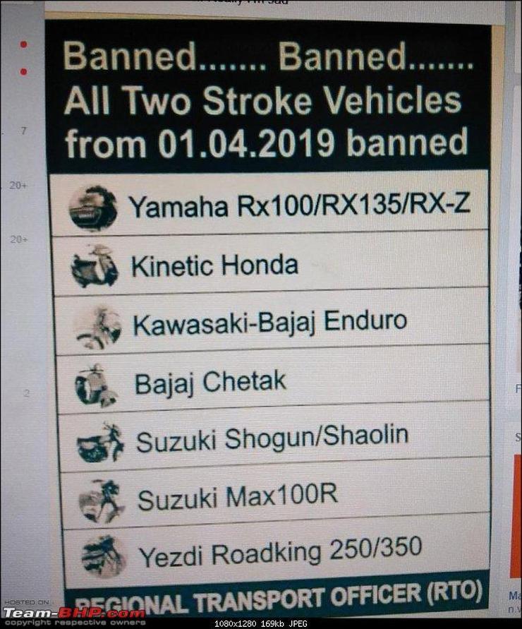 2 stroke bikes like Yamaha RX100, RD350 Yezdi to be banned? We explain!