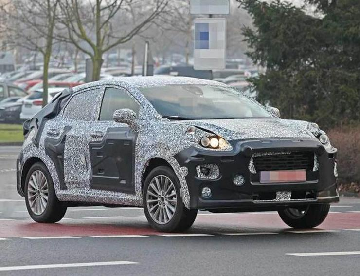 Next Generation Ford Ecosport Spied Testing With Fiesta Body