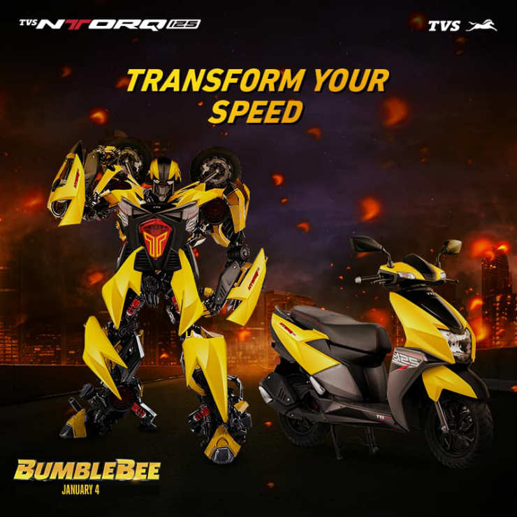 TVS NTorq Turned Into A Bumblebee Transformers Is A STUNNER