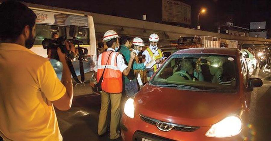 हैदराबाद पुलिस एंटी ड्रिंक एंड ड्राइव अभियान