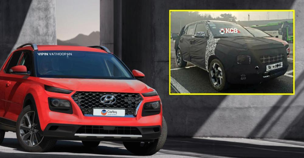 Hyundai Styx spied with dual tone paint job & shark fin antenna