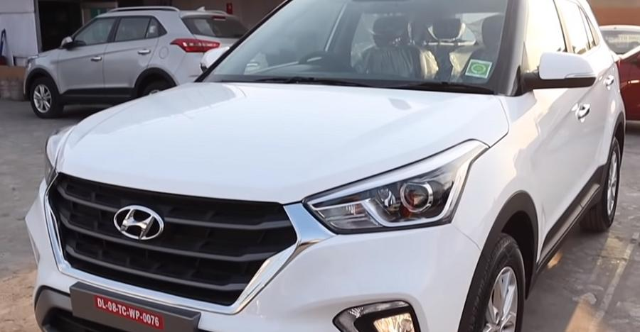 2019 Hyundai Creta compact SUV spotted at a showroom