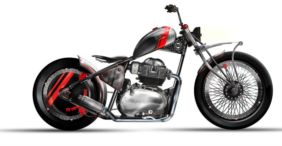Rendered Royal Enfield 650 Hardtail looks absolutely BADASS