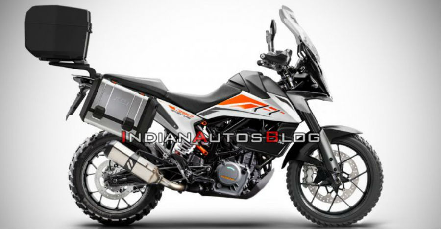 KTM 390 ADV with panniers looks ready for Ladakh