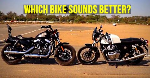 Royal Enfield Vs Harley Davidson Exhaust Comparo Featured