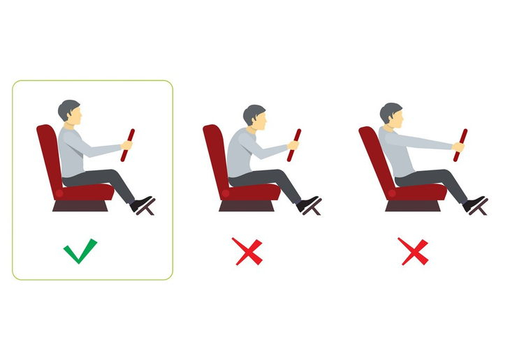 Correct Seating Posture While Driving