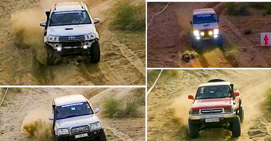 Watch Toyota Fortuner, Hilux V8, Land Cruiser & Bolero in a Desert challenge [Video]