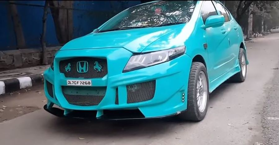 Honda City with a Civic body kit is TOTALLY wild & wacky [Video]
