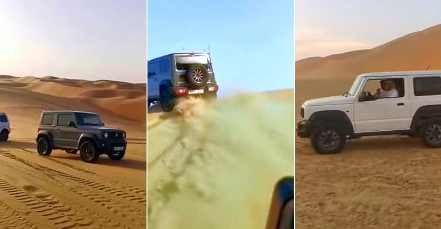 Watch the Suzuki Jimny absolutely rock it on MASSIVE sand dunes [Video]