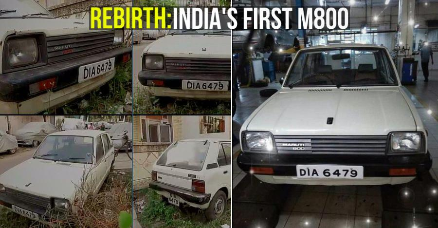 India's very first Maruti 800 is finally getting RESTORED