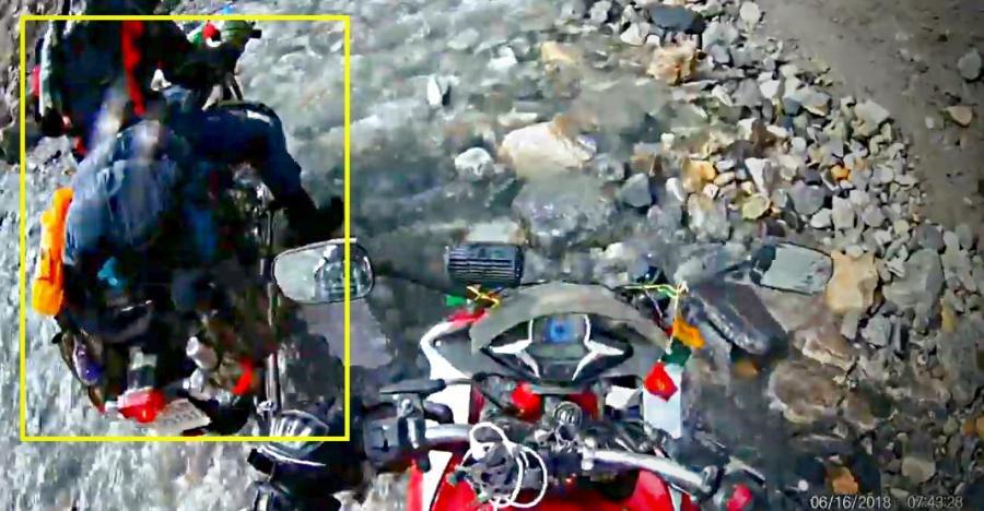 Royal Enfield Bullet gets STUCK at water crossing: Honda CBR passes like a BOSS [Video]