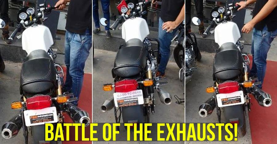 Royal Enfield Continental GT650's stock vs MODIFIED exhaust compared [Video]
