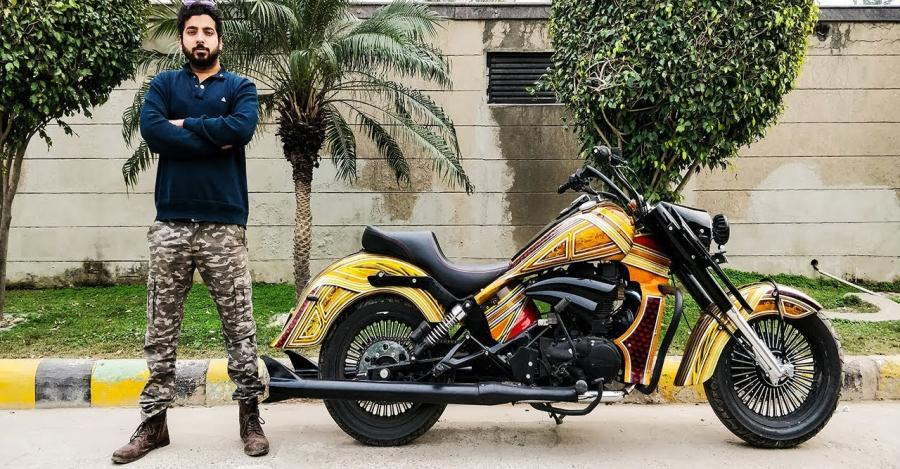 Royal Enfield Thunderbird modified into big daddy cruiser is a STUNNER