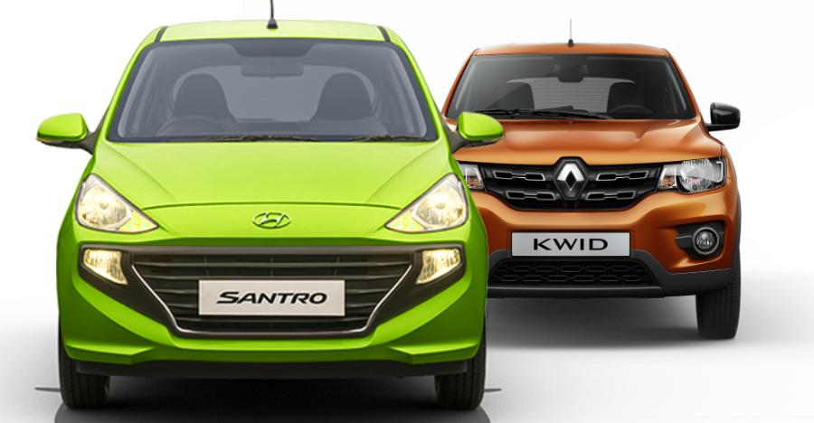 Hyundai Santro outsells the Renault Kwid in January 2019