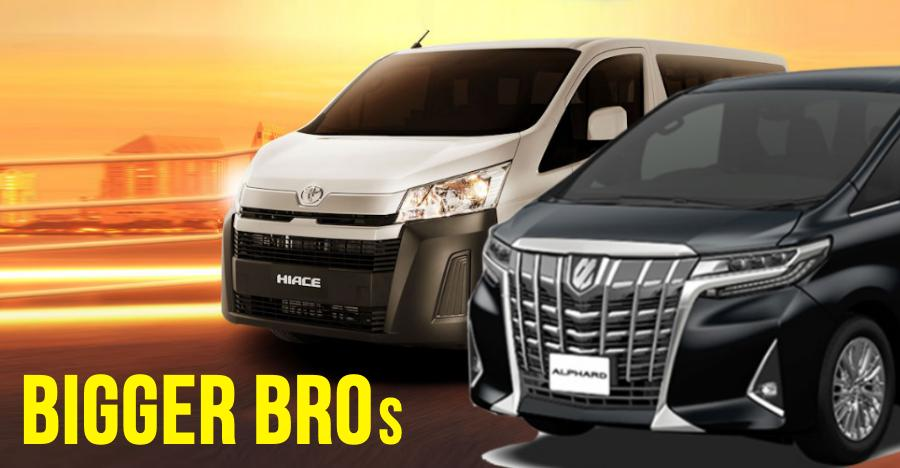 Toyota Innova Crysta to get two BIGGER brothers: Alphard & HiAce
