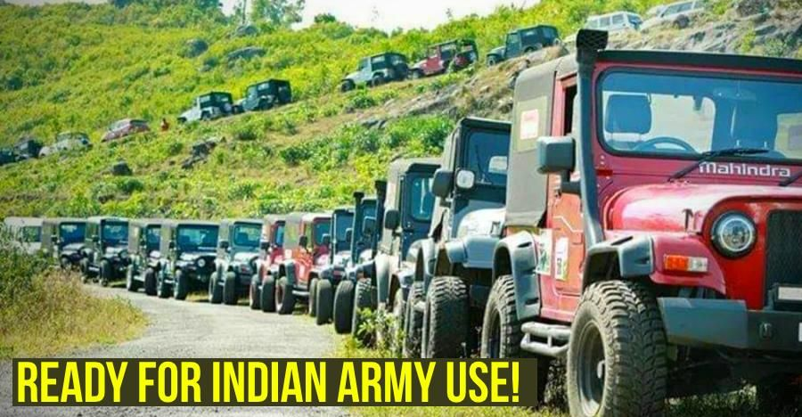 Trivandrum Jeeper's Club pledges 70 4X4 SUVs to the Indian army