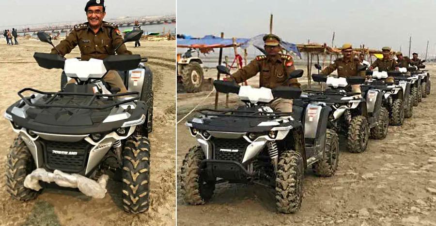 UP Police are now using Powerland 4X4 ATVs to patrol Kumbh Mela