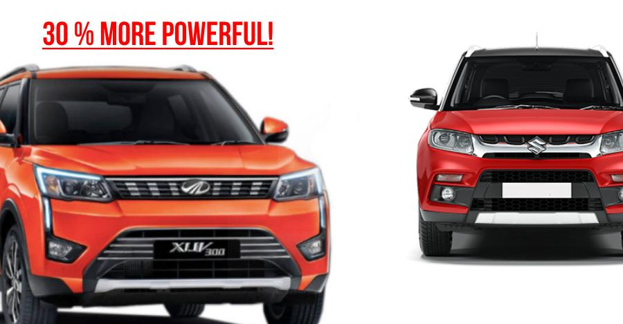 Mahindra XUV300 is much more POWERFUL than the Maruti Brezza: Proof