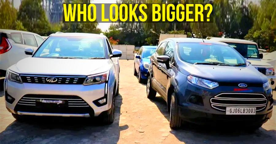 Mahindra XUV300 vs Ford EcoSport: Road presence compared for the first time [Video]