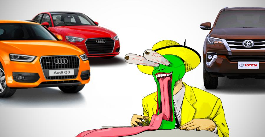 Now buy a brand new Audi luxury sedan/SUV for a lot LESSER than a Toyota Fortuner